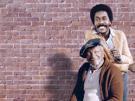 Sanford & Son: Redd Foxx (from left) Demond Wilson  Image Source: Sony Pictures Home Entertainment, Inc. (SPHE)